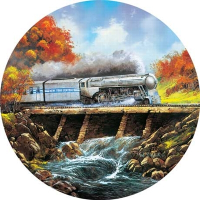 Full Steam Ahead - 500pc Round Jigsaw Puzzle by Masterpieces