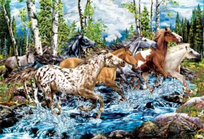 River Run - 500pc Glow in the Dark Jigsaw Puzzle by Masterpieces