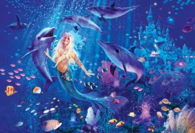 Ocean Friends - 500pc Glow in the Dark Jigsaw Puzzle by Masterpieces