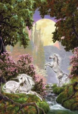 Unicorn Sanctuary - 500pc Glow in the Dark Jigsaw Puzzle by Masterpieces