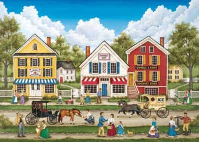 Busy Day Main Street - 500pc Jigsaw Puzzle by Masterpieces