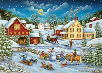 Sledding Race - 500pc Jigsaw Puzzle by Masterpieces