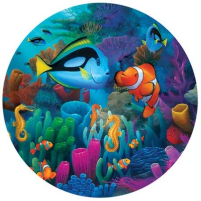 Friends of the Sea - 500pc Round Jigsaw Puzzle by Masterpieces