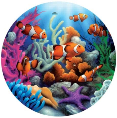 Clowning Around - 500pc Round Jigsaw Puzzle by Masterpieces