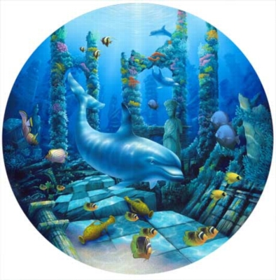 Deep Secrets - 500pc Round Jigsaw Puzzle by Masterpieces