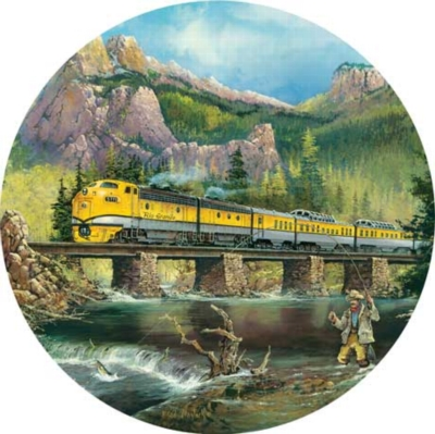 Scenic Express - 500pc Round Jigsaw Puzzle by Masterpieces