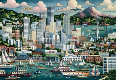 Seattle - 500pc Jigsaw Puzzle by Masterpieces