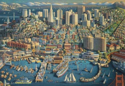 San Francisco - 500pc Jigsaw Puzzle by Masterpieces