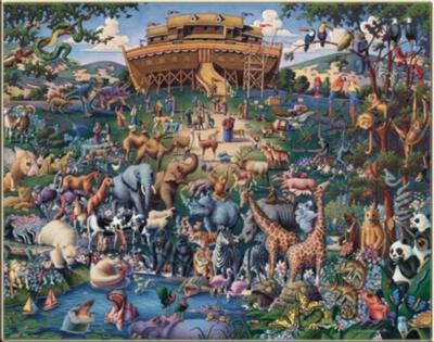 Noah's Ark - 1000pc SuitcaseJigsaw Puzzle by Masterpieces