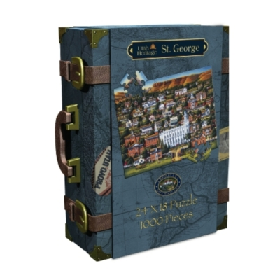 St. George, UT - 1000pc Suitcase Jigsaw Puzzle by Masterpieces