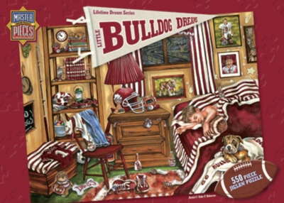 Little Bulldog Dreams - 550pc Jigsaw Puzzle by Masterpieces