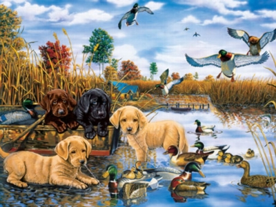 Tail Waggin' Day - 750pc Jigsaw Puzzle by Masterpieces