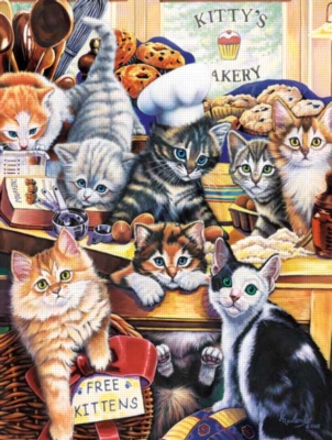 Kitty's Bakery - 750pc Jigsaw Puzzle by Masterpieces
