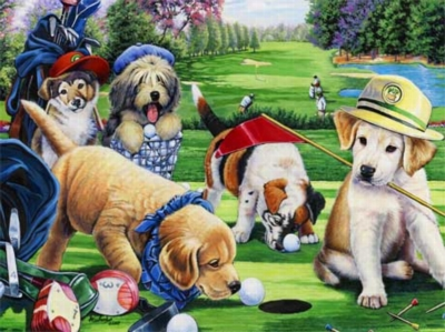 Putting Puppies - 750pc Jigsaw Puzzle by Masterpieces