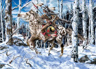 Wolf Rider - 1000pc Jigsaw Puzzle by Masterpieces
