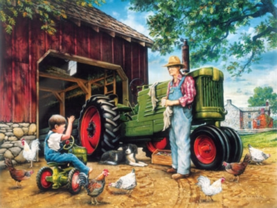 Barnyard Memories - 1000pc Jigsaw Puzzle by Masterpieces