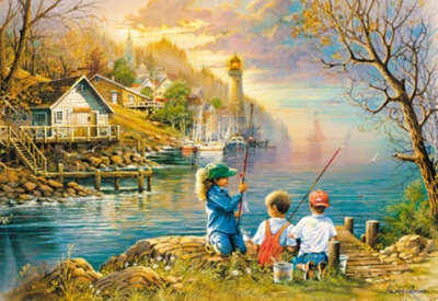 Fishing Friends - 1000pc Large Format Jigsaw Puzzle by Masterpieces