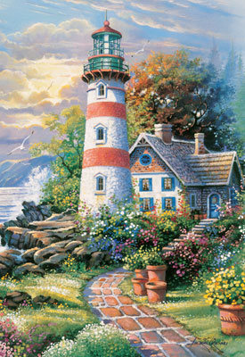 Seaside Haven - 1000pc Large Format Jigsaw Puzzle by Masterpieces