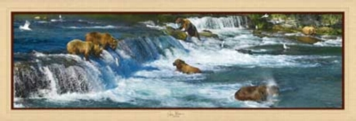 Bearly Fishing - 1000pc Panoramic Jigsaw Puzzle by Masterpieces