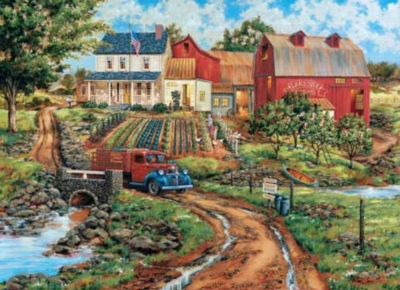 Granny's Garden - 1000pc Jigsaw in a Collectors Tin by Masterpieces