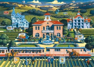 Vineyard Tour - 1000pc Jigsaw Puzzle by Masterpieces