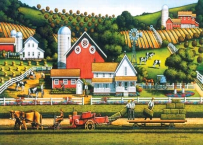 Farm Life - 1000pc Jigsaw Puzzle by Masterpieces