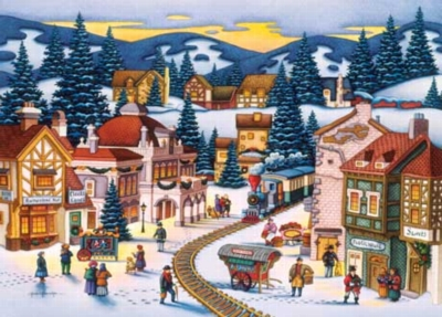 Frosty Delivery - 1000pc Jigsaw Puzzle by Masterpieces