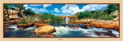 Atlantis Falls - 1000pc Panoramic Jigsaw Puzzle by Masterpieces