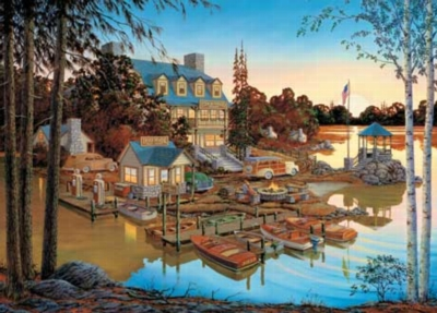 Peaceful, Easy Evening - 1000pc Jigsaw in a Collectors Tin by Masterpieces
