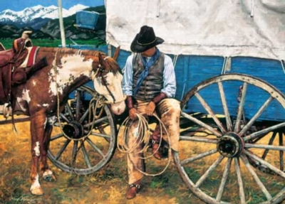 Cowboy Connections - 1000pc Jigsaw Puzzle by Masterpieces