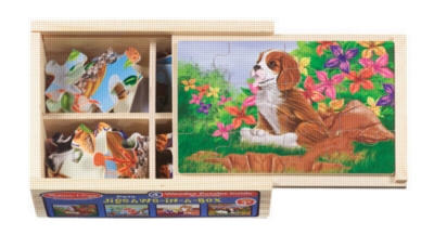 Jigsaw Puzzles For Kids - Wooden - Pets