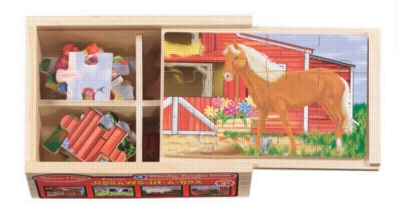 Farm - 4 x 12pc Jigsaw Puzzle By Melissa & Doug