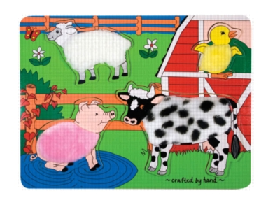 Farm Fuzzy - 4pc Wooden Puzzle By Melissa & Doug
