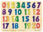 Numbers - 21pc Wooden Sound Puzzle For Kids By Melissa & Doug