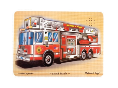 Fire Truck - 9pc Wooden Sound Puzzle By Melissa & Doug