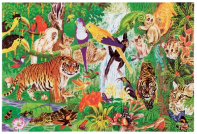 Melissa and Doug Floor Jigsaw Puzzles For Kids - Rain Forest