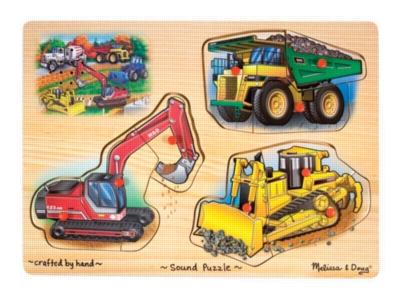 Construction - 9pc Wooden Sound Puzzle By Melissa & Doug
