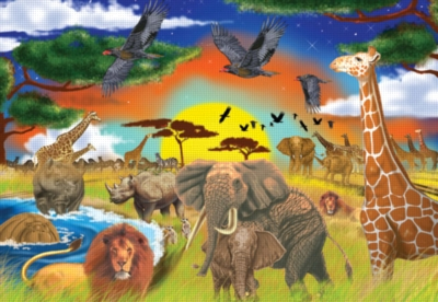Melissa and Doug Jigsaw Puzzles for Kids - Safari Adventures