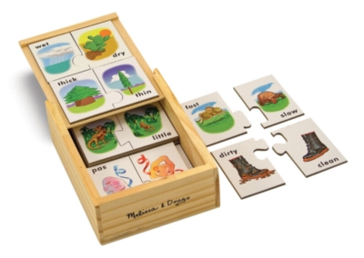 Opposites - 20pc Puzzle Cards By Melissa and Doug