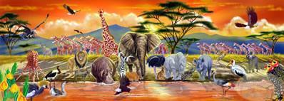 Melissa and Doug Floor Jigsaw Puzzles For Kids - Safari