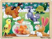Melissa and Doug Wooden Jigsaw Puzzles for Kids - Playful Pets