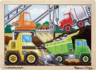 Construction Site - 12pc Wooden Children's Jigsaw Puzzle By Melissa & Doug