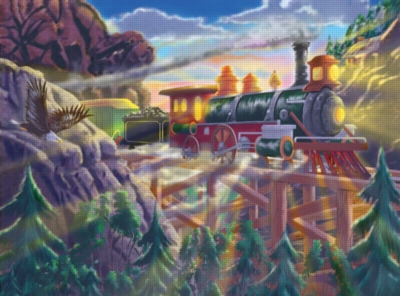 Melissa and Doug Jigsaw Puzzles for Kids - Eagle Canyon Railway
