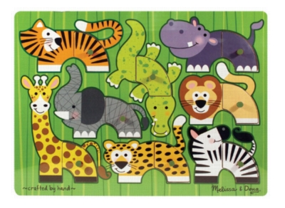 Wood Puzzles - Safari Mix 'n Match