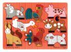 Farm Mix 'n Match - 8pc Wooden Peg Puzzle By Melissa & Doug
