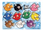 Fish Colors Mix 'n Match - 10pc Wooden Peg Puzzle By Melissa & Doug