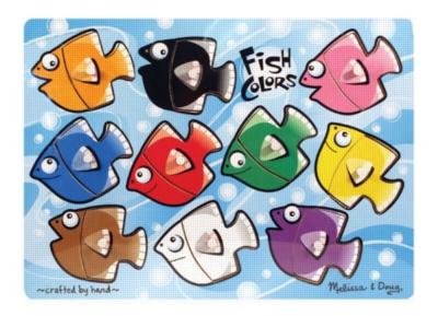 Wood Puzzles - Fish Colors Mix 'n Match