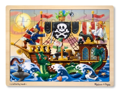 Melissa and Doug Jigsaw Puzzles for Kids - Pirate Adventure