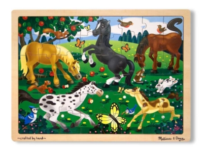 Melissa and Doug Jigsaw Puzzles for Kids - Frolicking Horses
