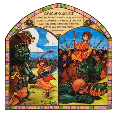 David and Goliath - 30pc Wooden Jigsaw Puzzle By Melissa and Doug